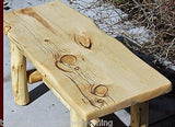 Rustic Log Bench - Cabin, Lodge, Country Log Furniture - Free Shipping