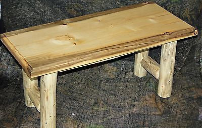 Rustic Log Coffee Table,2 End Tables and 2 Lamps Set - Cabin, Lodge, Country Log Furniture - Choice Of Tops - Shipping Is $140.00 For Set