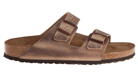 Birkenstock Arizona Tobacco Brown Waxy Leather Soft Footbed