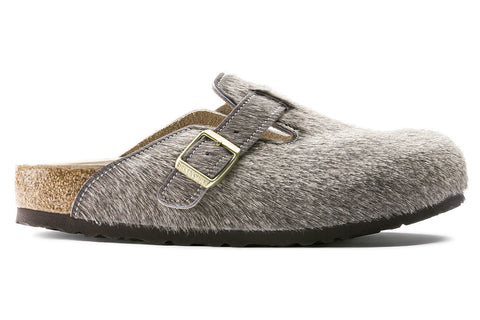 Birkenstock Boston Cow Hide Gray Melange