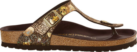 Birkenstock Gizeh Spotted Metallic Brown Leather