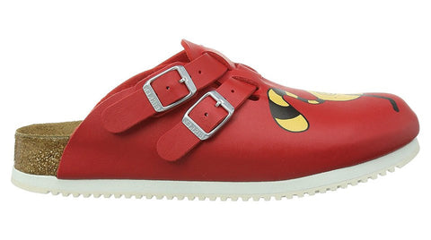 Birkenstock Kay Red Cat Bridget Super Grip