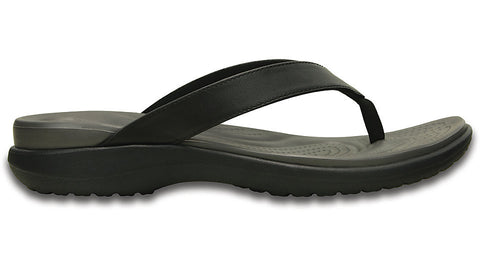 Crocs Capri V Flip Black Graphite - Sole Central