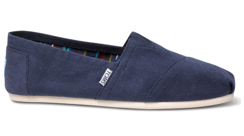 TOMS Classic Navy Canvas - Women's