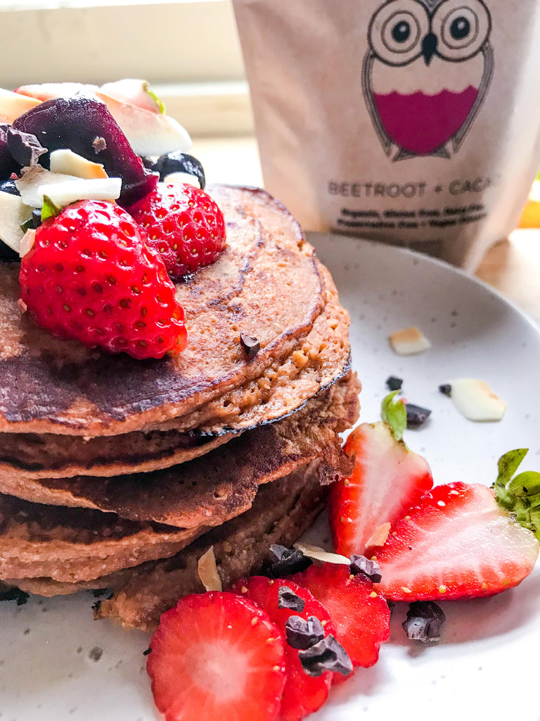 Naked Paleo Chocolate Beetroot Pancakes by Grace Chung