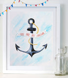 You are my Anchor - Baby Nursery Art