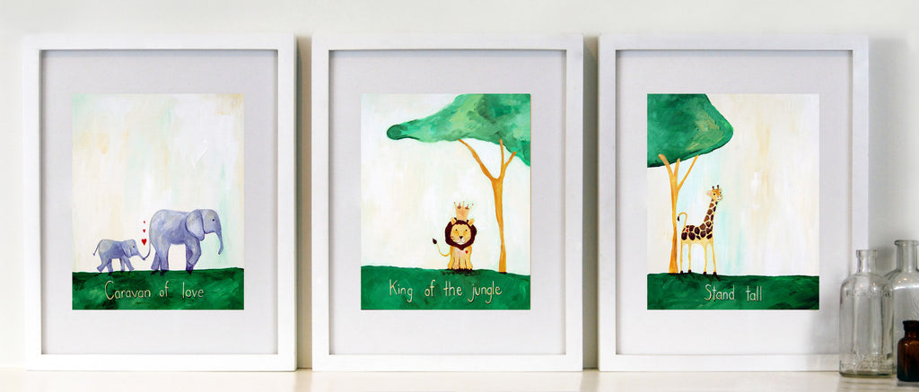 Green - Baby Nursery Wall Quote Art - Safari Nursery Decor for Baby by Cici Art Factory