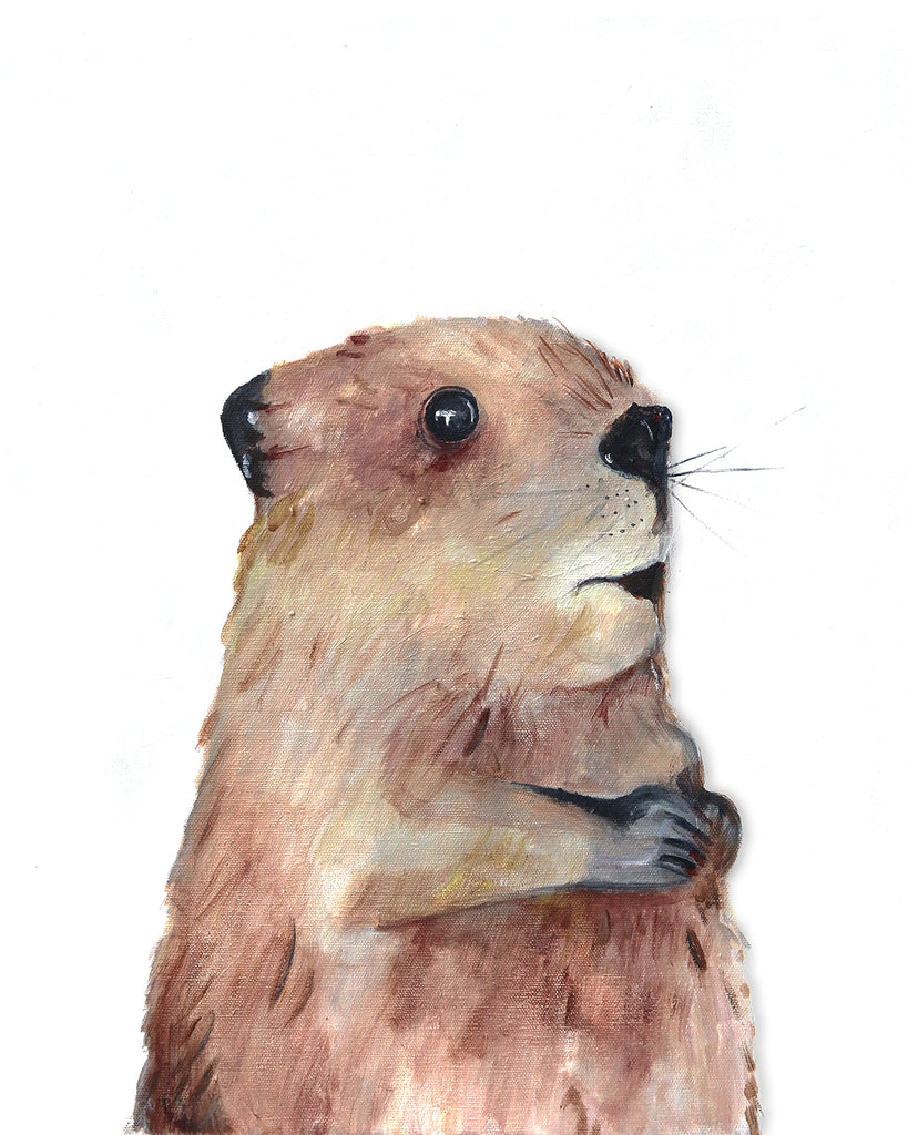 Baby Beaver Canada Nursery Decor by Liz Clay