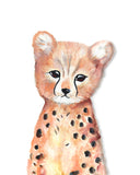 Cheetah safari nursery art print