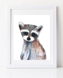 Baby racoon nursery art print by Liz Clay of Cici Art Factory