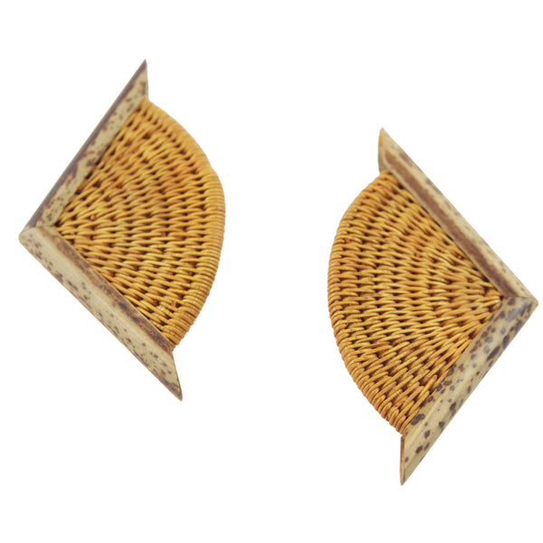 Unique Bamboo french 60s earrings