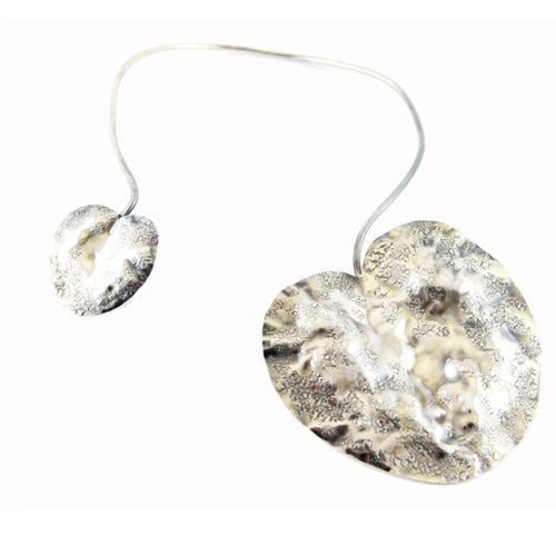 Robert Goossens vintage water lily leafs necklace