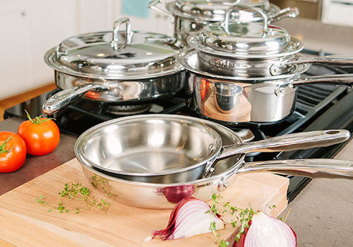 360 Cookware pots pans stainless steel green
