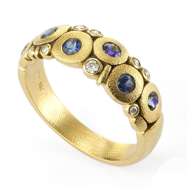 Alex Sepkus Diamond and Blue Sapphire Mix