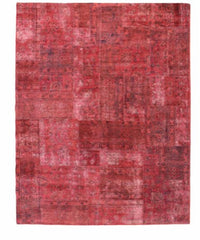 Red Patchwork Rug // Custom Order
