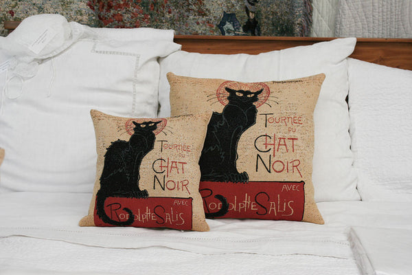 CHAT NOIR CUSHION COVER - FLEMISH TAPESTRIES