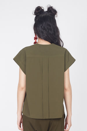 Double Flap Top (Olive)