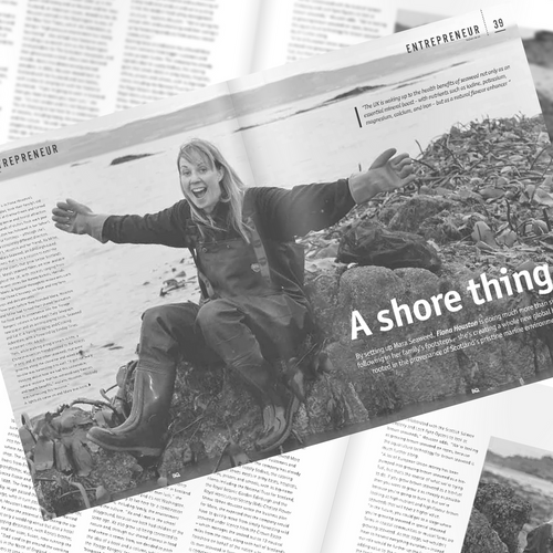Fiona Houston in BQ magazine article 'A Shore Thing'