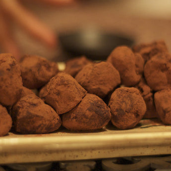 Chocolate Truffles with Whisky and Seaweed Powder