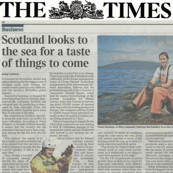 "Mara in The Times: ""A Taste of Things to Come"""