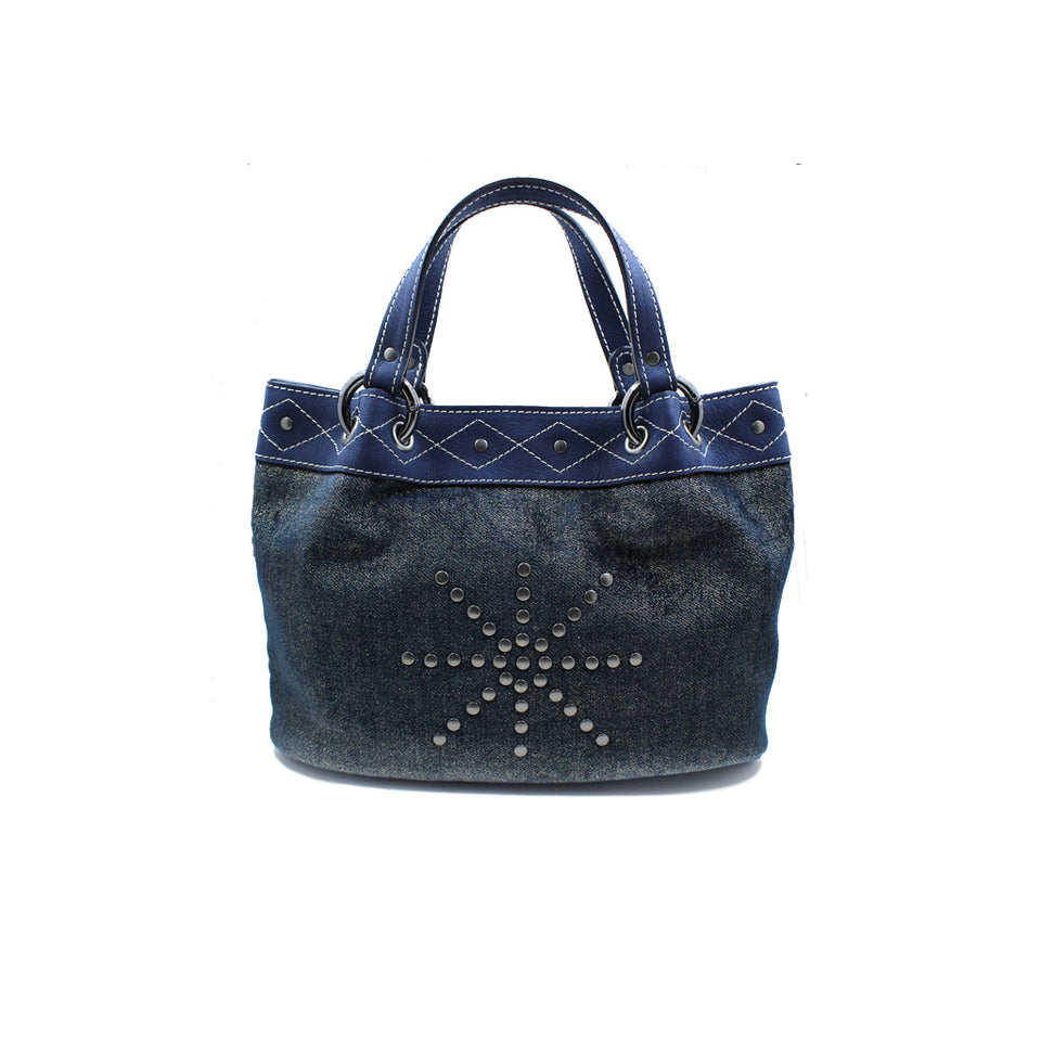 Joey Wölffer Mini Tote - Blue Velvet
