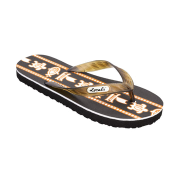 Sea Print Men's Brown Slippa