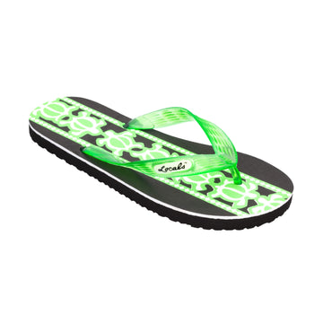 Turtle Print Men's Green Slippa