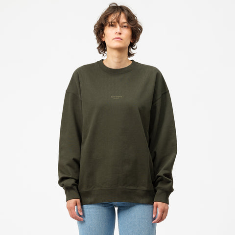 Acne Studios Femke Sweatshirt in Deep Green - Notre