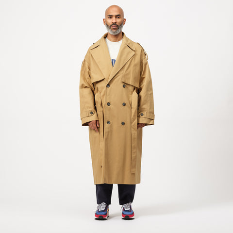 Adererror High Fusion Trench Coat in Beige - Notre