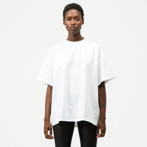 HYKE Knit T-Shirt in White - Notre