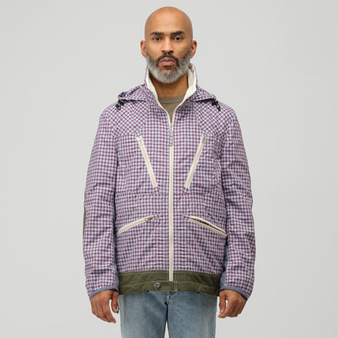 Junya Watanabe Jacket in Red/Blue Plaid - Notre