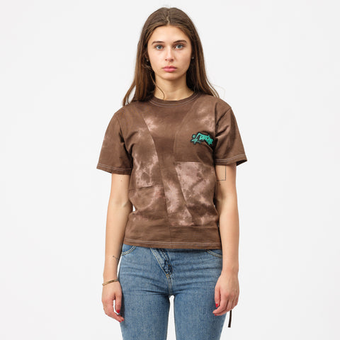 Ottolinger Fitted T-Shirt in Brown Tie-Dye - Notre