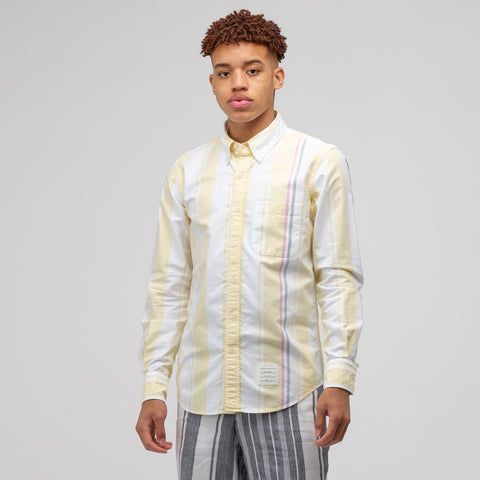 Thom Browne Button Down Long Sleeve Oxford Shirt in Yellow - Notre