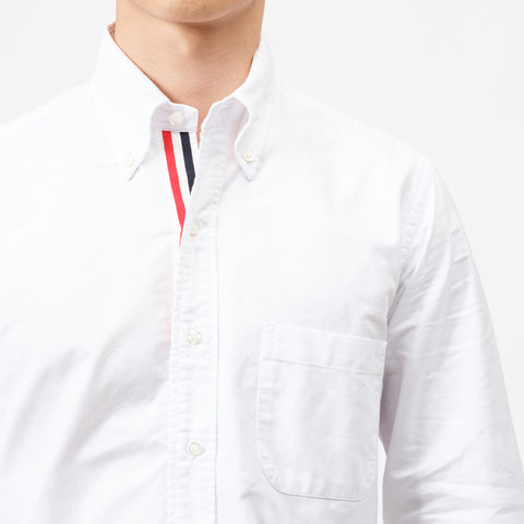 Thom Browne Classic L/S BD PC Oxford Shirt in White - Notre