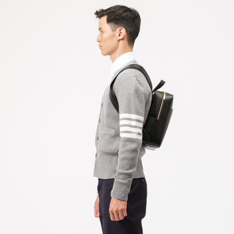Thom Browne Zip Top Book Bag in Black - Notre