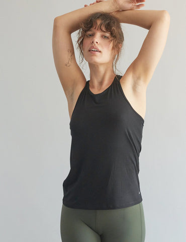 Black Racerback Tank - Haven Collective