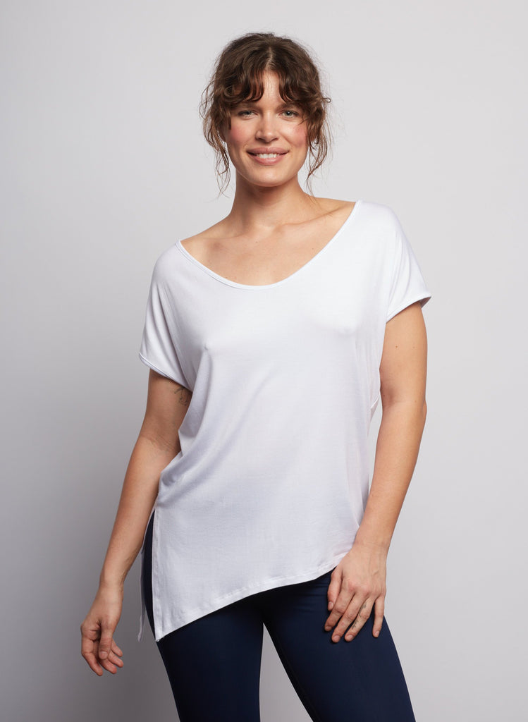 White Boxy Tee - Haven Collective