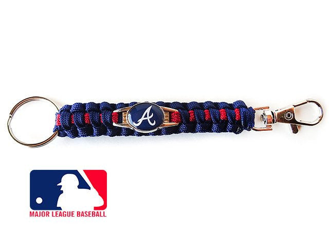 Officially Licensed MLB Atlanta Braves Paracord Keychain