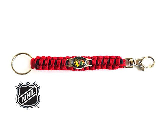 Officially Licensed NHL Chicago Blackhawks Paracord Keychain