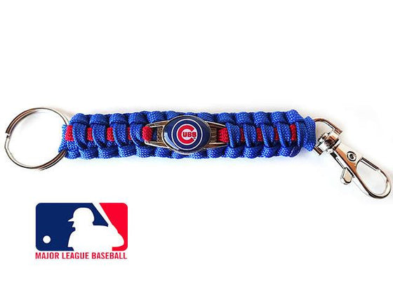 Officially Licensed MLB Chicago Cubs Paracord Keychain