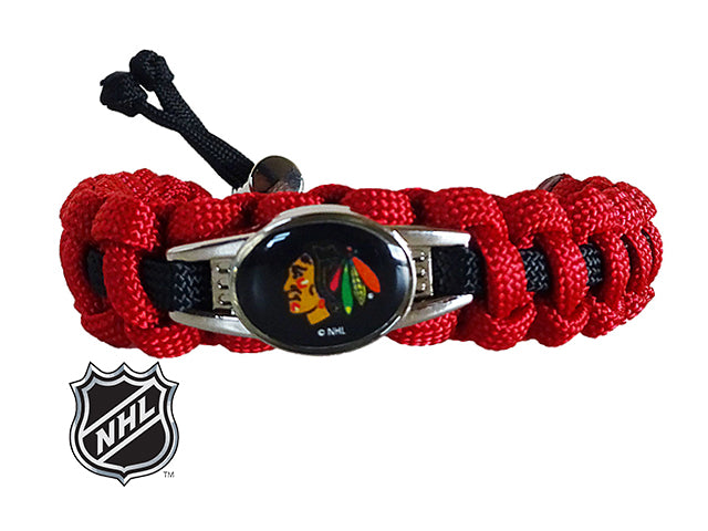 Officially Licensed NHL Chicago Blackhawks Paracord Bracelet