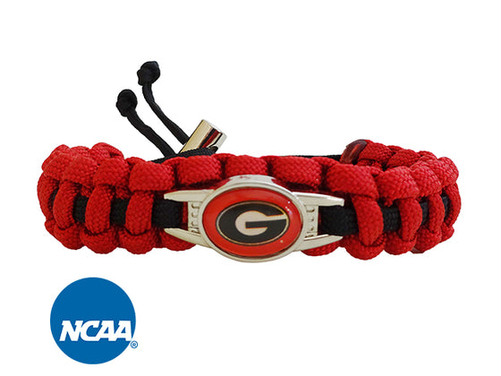 Officially Licensed Georgia Bulldogs Paracord Bracelet