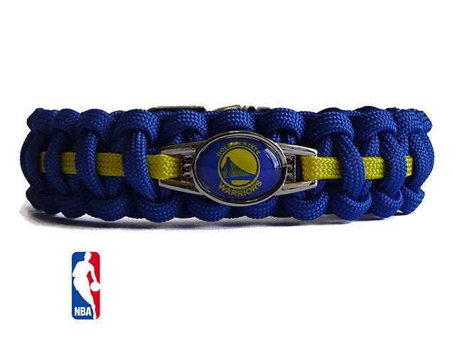 Officially Licensed NBA Golden State Warriors Paracord Bracelet