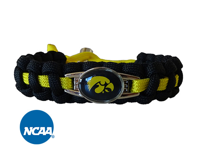 Officially Licensed Iowa Hawkeyes Paracord Bracelet