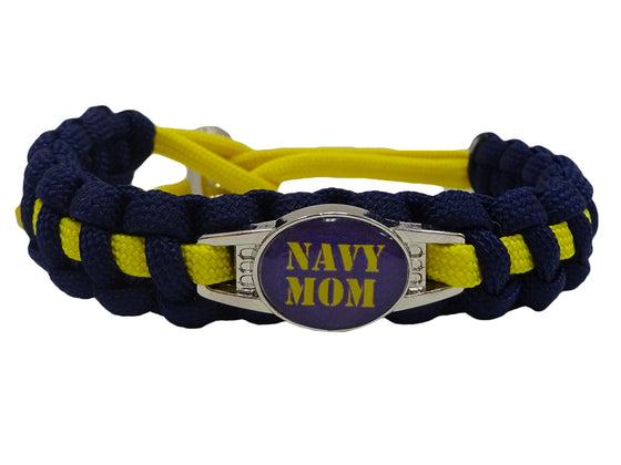 Navy Mom Paracord Bracelet