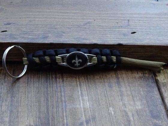 Officially Licensed New Orleans Saints NFL Paracord Mini Keychain