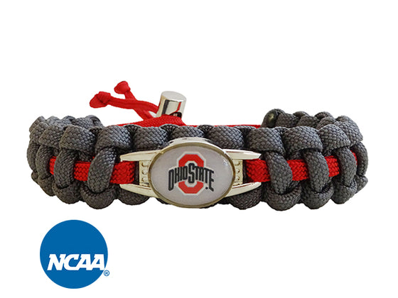 Officially Licensed Ohio State Buckeyes Paracord Bracelet