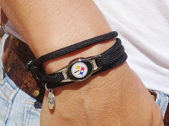 Pittsburgh Steelers Officially Licensed Designer Wrap Bracelet
