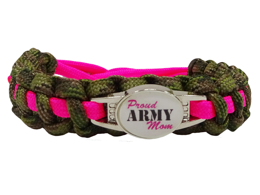 Proud Army Mom Paracord Bracelet