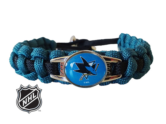 Officially Licensed NHL San Jose Sharks Paracord Bracelet